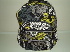 """Vera Bradley Campus Backpack in Baroque by Vera Bradley. $99.99. 12"""" x 16"""" x 6 1/2"""" with 2 3/4"""" handle drop and 28 1/2"""" adjustable shoulder straps Zip pocket with wide trim detail, zip pocket, padded back panel and straps,  two side pockets, grommet opening for headphone cord Lined interior, two slip pockets, two pen slip pockets, ID window NO TAGS"""
