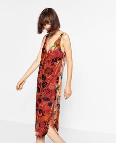 ZARA - WOMAN - PRINTED VELVET DRESS