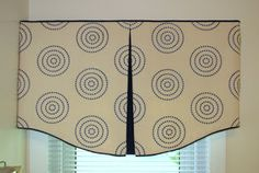 This shaped pleated valance by Leslie Fehling