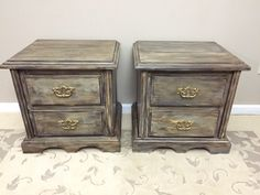 A personal favorite from my Etsy shop https://www.etsy.com/listing/264178760/distressed-pair-of-nightstands