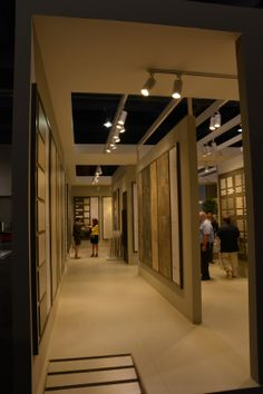 Coverings Booth 2014 #Tile www.anatoliatile.com #coverings2014 Tile Showroom, Showroom Design, Interior Design, Exposed Ceilings, Shop Doors, Doors And Floors, Bathroom Showrooms, Flooring Store, Kitchen Gallery