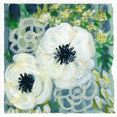 From Mati Rose's Daring Adventures in Abstract Paint - blooms week - by April V. Walters 2016
