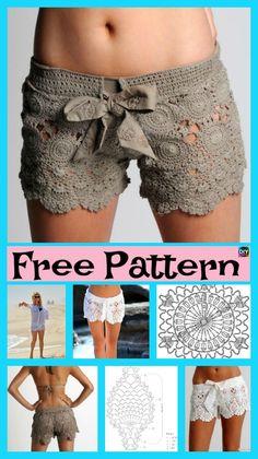 Amazing Crochet Lace Shorts – Free Pattern #freecrochetpatterns #laceshorts #crocheting http://www.diy4ever.com/crochet-lace-shorts-free-pattern/