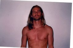 paul walker - never seen him with long hair before. wow