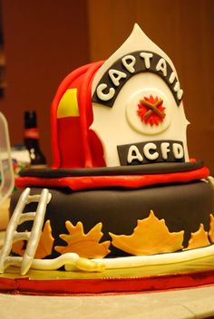 Fireman 60th bday-retirement cake by Whimsy Cakes, via Flickr   Oh on firehouse ice cream, firehouse toy, firehouse beer, firehouse cupcake, firehouse desserts, firehouse gingerbread house, firehouse sauces,