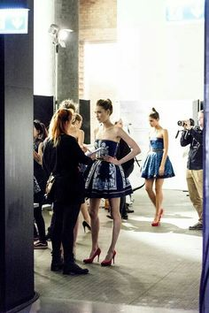 Central European Shows Jana Gavalcova fashion designer / True Blue collection 2016 Fashion Designer, Backstage, Sequin Skirt, Sequins, Collection, Skirts, Blue, Sequined Skirt, Skirt