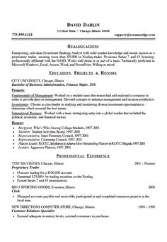 students resume template