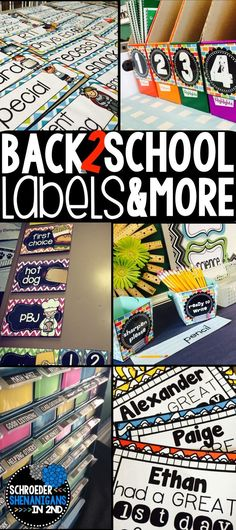 Classroom labels, book bin labels, FREEBIE free schedule cards, and editable templates to create your own classroom labels. Suggestions as well for organizing to dos, keeping your desk clutter free, and how to organize and keep track of your copies for the week