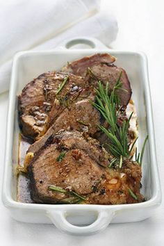 Pesach - Passover Roman Lamb Roast (Meat) recipe courtesy of the Roman Jews (who are very proud to be neither Ashkenazic nor Sephardic) serve lamb at their Seder to this day.