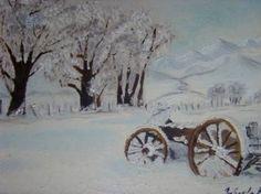 "Saatchi Art Artist bratu mihaela; Painting, ""Sweet winter"" #art"