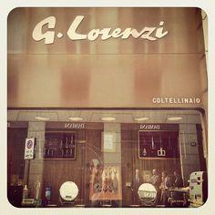 G Lorenzi cutlery shop in Milan.