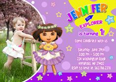Dora the Explorer Birthday Party Invitation by FantasticInvitation, $8.99
