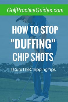 "Learn the chipping tips and drills that will help cure the yips, aka ""duffing"" a chip shot which ultimately costs your short game strokes on the golf course. Chipping yips is part mental, part physical. Click the link to learn more and be sure to stop by http://golfuniversityau.com/chipping-mastery-program/"