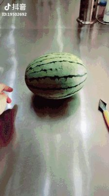GIF How to make a work of art from watermelon