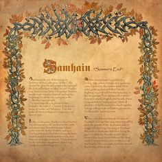 Book of Shadows, Samhainby Brightstone