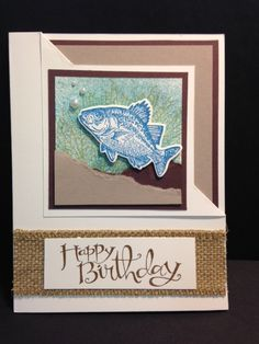 Today's Corner Flip Fold Technique card was made by Tanya. This card has a lot of fun things going on.  I love the torn paper for the san...