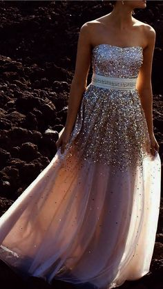 Real Custom Sexy Sweetheart Prom Dresses, Sequin Modest Strapless Long Prom Dress, Evening Dress, Party Dress,PD160321