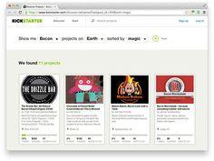 Kickstarter Introduces Food Subcategories Including Bacon