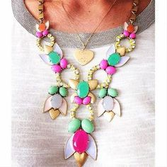 I love this necklace!  Trendy Tropicana Fashion Statement Necklace | Stella & Dot