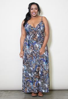 #plussize Sadie Maxi Dress - Paisley Print at Curvalicious Clothes #bbw #curvy #fullfigured #plussize #thick #beautiful #fashionista #style #fashion #shop #online www.curvaliciousclothes.com TAKE 15% OFF Use code: SVE15 at checkout