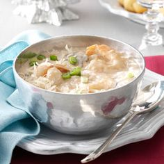 Creamy Seafood Bisque - used a lot of veggies to sub the shrimp I didn't have, really good - El