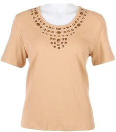 Petite Alfred Dunner Petite Prince Street Embellished Top Alfred Dunner. $35.00