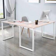 Merax L-Shaped Office Workstation Computer Desk Corner Desk Home Office Wood Laptop Table Study Desk (Oak): modern l shaped desk. Home Office Space, Home Office Desks, Small Office Decor, Office Workspace, Home Music, Double Desk, Oak Desk, Office Workstations, Laptop Table