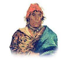 Picture of King Phillip, Seminole Chief Native American ***  George Catlin  kK
