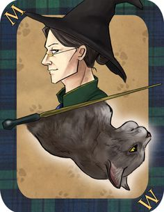 imaginative-ink:  Minerva McGonagall. She means business. And her Animagus is her Patronus because she's JUST THAT AWESOME.