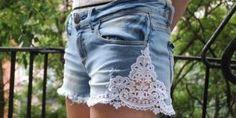 Customizar Shorts con Encaje Paso a Paso