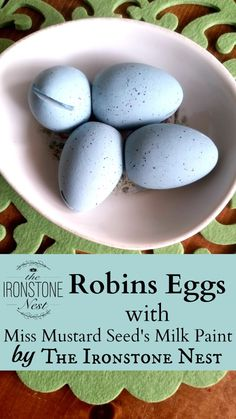 Robins Eggs for East