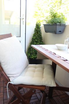 Our Balcony Makeover - Loepsie Tiny Balcony, Accent Chairs, Balconies, Furniture, Home Decor, Verandas, Homemade Home Decor, Balcony, Home Furnishings