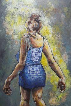 Follow me/ painting, acrylic on canvas