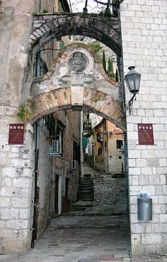 Arch & Alleyway, Kotor, Montenegro, via Flickr.