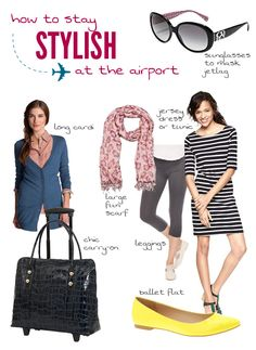 How to Stay Stylish at the Airport - look good going from point A to point B from SuitcaseandHeels.com