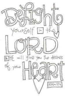 Psalm 37:4 canvas