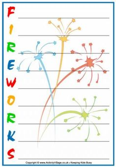 Bonfire Night acrostic poem printables                                                                                                                                                     More