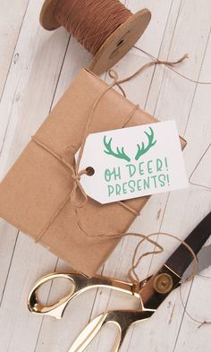 On the Creative Market Blog | DIY Gift Tags: How to Make Linocut Stamps | With a few basic tools, you can create your own linocut stamps to make gift tags with a vintage look.