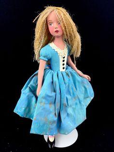 "Artist Nancy Wiley 10"" Cast Resin Handpainted Alice In Wonderland Doll #130/200"