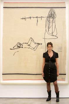Drawing the line … Tracey Emin pictured at the White Cube gallery in May Photograph: Oli Scarff/Getty Images Artist Art, Artist At Work, Tracey Emin Art, Jenny Saville, Artist Workspace, Angry Girl, Art Criticism, English Artists, British Artists