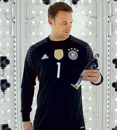 Manuel Neuer and a Manuel Neuer doll