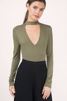 Kari Choker Bodysuit at Tobi.com #shoptobi