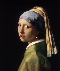 Vermeer Jan - Das Mädchen mit dem Perlenohrring (Perlenohrgehänge). Vor der Restauration.