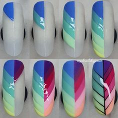 7 masks to prepare yourself against acne and blemishes. Cute Nail Art Designs, Red Nail Designs, Nail Polish Designs, Pink Ombre Nails, Pastel Nails, Easy Nail Art, Cool Nail Art, Hard Gel Nails, Nail Place