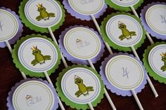 Princess Frog Birthday Party Cupcake Toppers set of 12 by Belleza e Luce. $9.00, via Etsy.