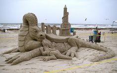 Port Aransas TX Sandfest dragons