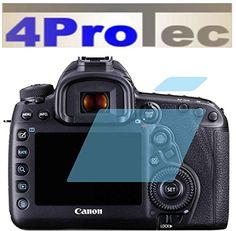 2 Stück HARTBESCHICHTETE KRISTALLKLARE Displayschutzfolie für Canon EOS 5D Mark IV Bildschirmschutzfolie - http://uhr.haus/4protec/canon-eos-5d-mark-iv-entspiegelt-schutzfolien
