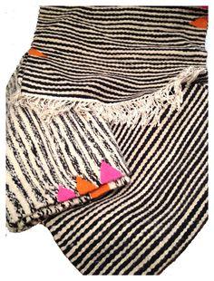 Handwoven striped runner rugs designed by kira-cph.com