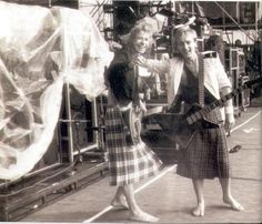 Steve Clark and Phil Collen of Def Leppard wearing kilts! Rock on!
