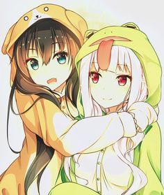 anime and kawaii image Anime Girlxgirl, Anime Chibi, Otaku Anime, Chica Anime Manga, Kawaii Anime Girl, Manga Kawaii, Anime Art Girl, Anime Girls, Friend Anime